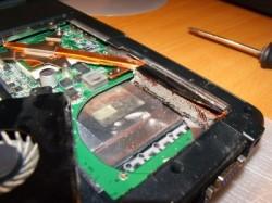 notebook vyčištění ventilátoru
